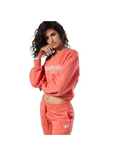 Reebok Cl Fl Crew Kadın Sweatshirt Oranj